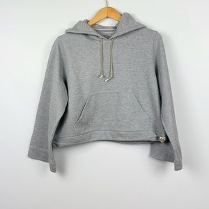 J. CREW grey cropped hoodie size S